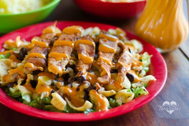 crunchy southwestern salad
