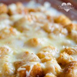 close-up of tater tot casserole