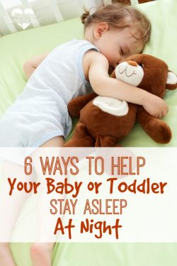 how to get toddler to stay asleep at night