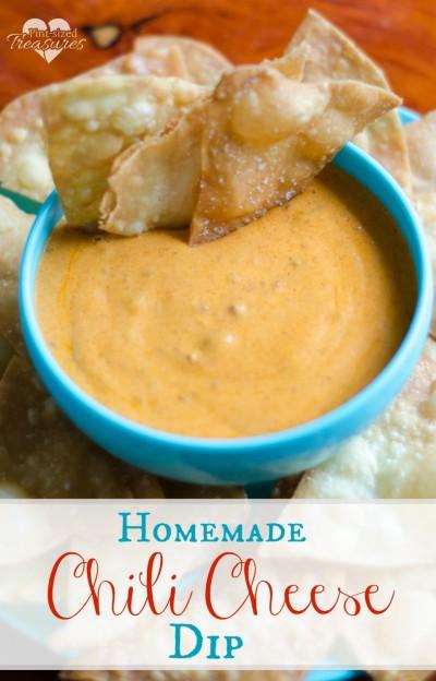 homemade easy chili cheese dip