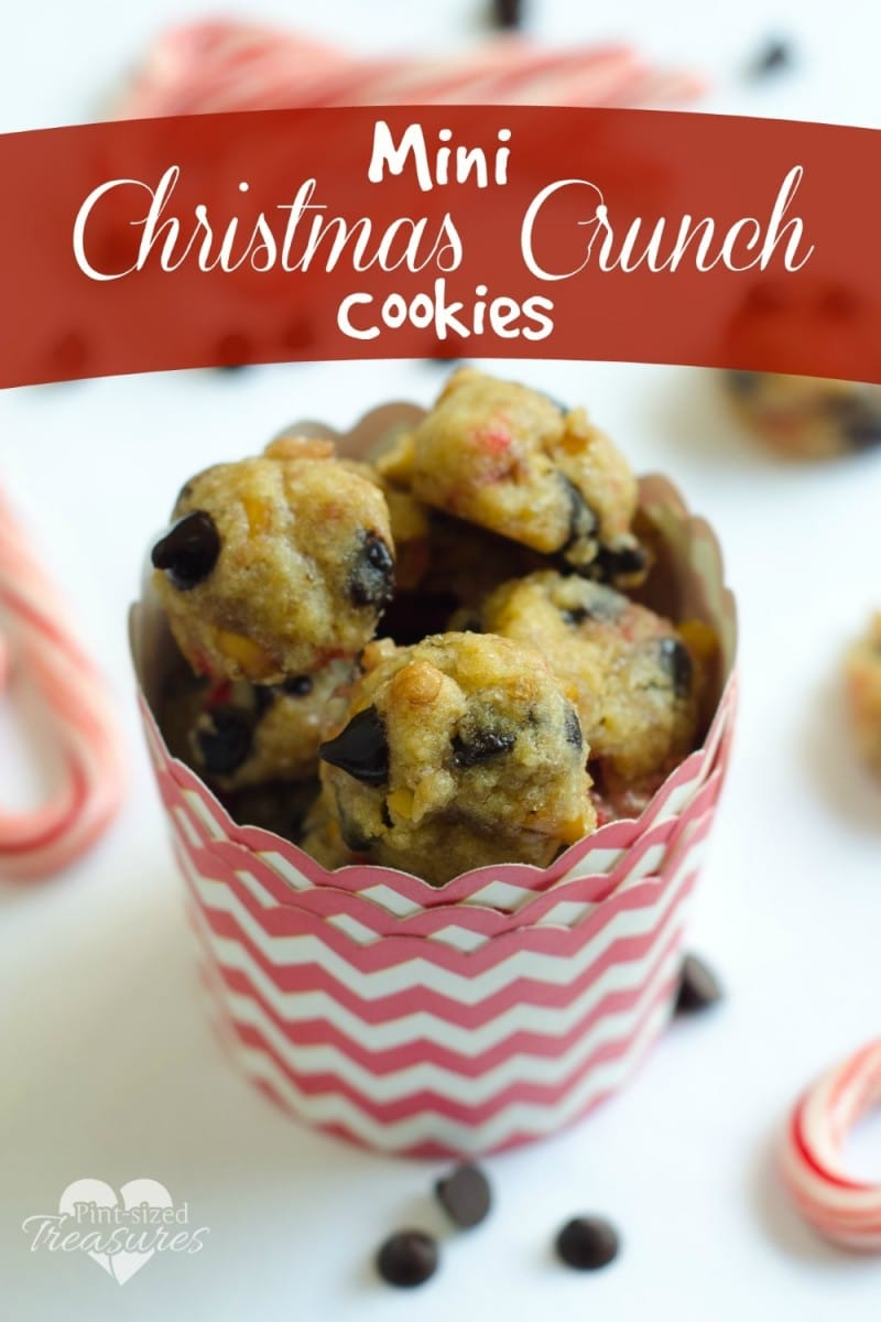 mini Christmas crunch cookies recipe