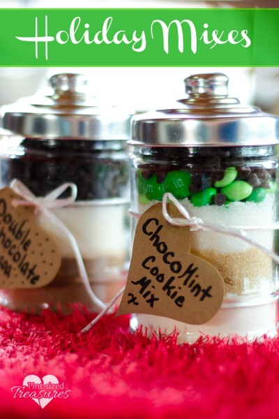 homemade cookie mix and hot cocoa mix