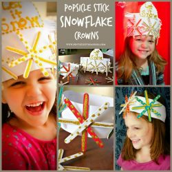 Popsicle Stick Snowflake Crown Craft