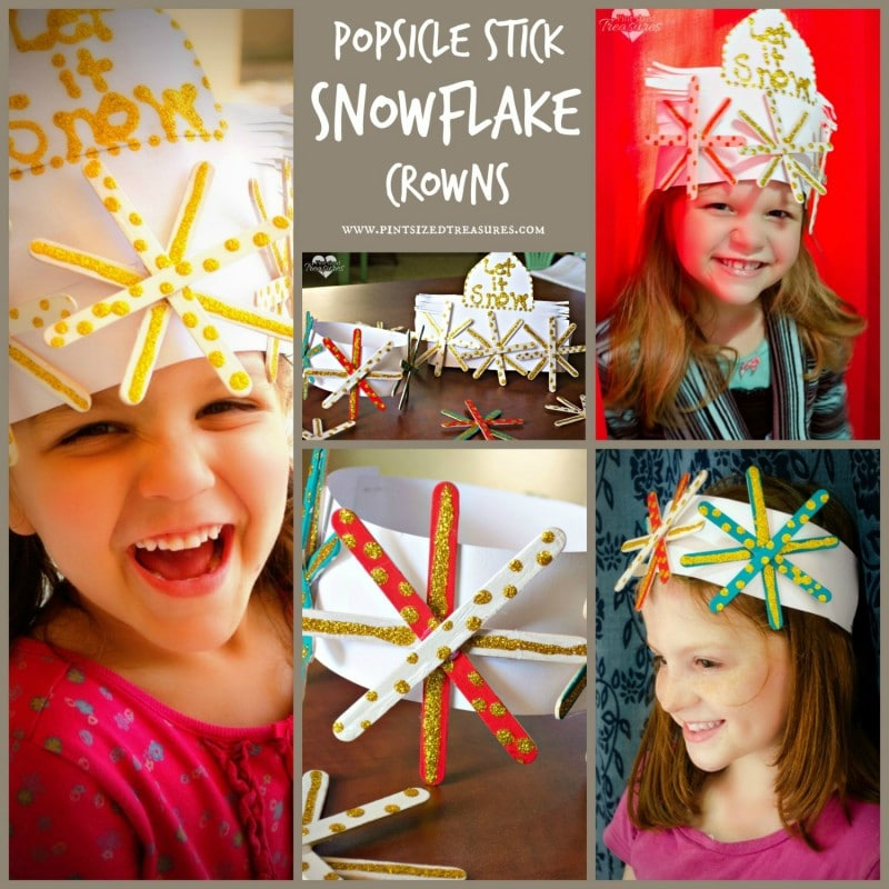 Popsicle sticksnowflake craft