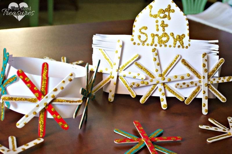 popsicle snowflake crowns