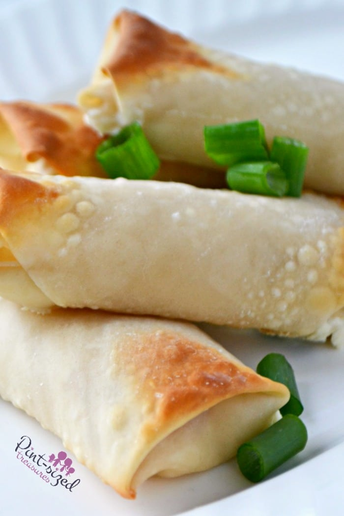 Crab rangoong egg rolls make an awesome appetizer for your next party!