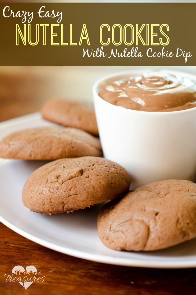 crazy easy nutella cookies