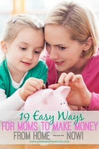 easy ways for moms to make money from home