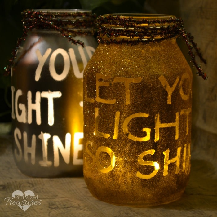 easy diy holiday luminaries