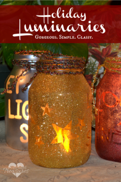 Simple DIY Holiday Luminaries