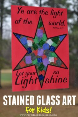 Stained Glass Art Craft For Kids — FREE Printable