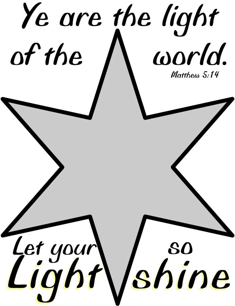 stained glass craft printable