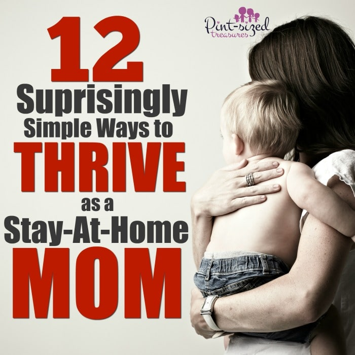 It's incredibly easy to lose inspiration in our jobs as wives and moms.  Be inspired to thrive asa stay at home mom with these 12 surprisingly simple tips! #stayathomemom #stayathomewife #sahm #moms #motherhood #homemaking #homemakers #mommyblog #inspiration #Christianmoms #thrivingathome #happymoms #happywife