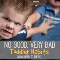 no good very bad habits in toddlers