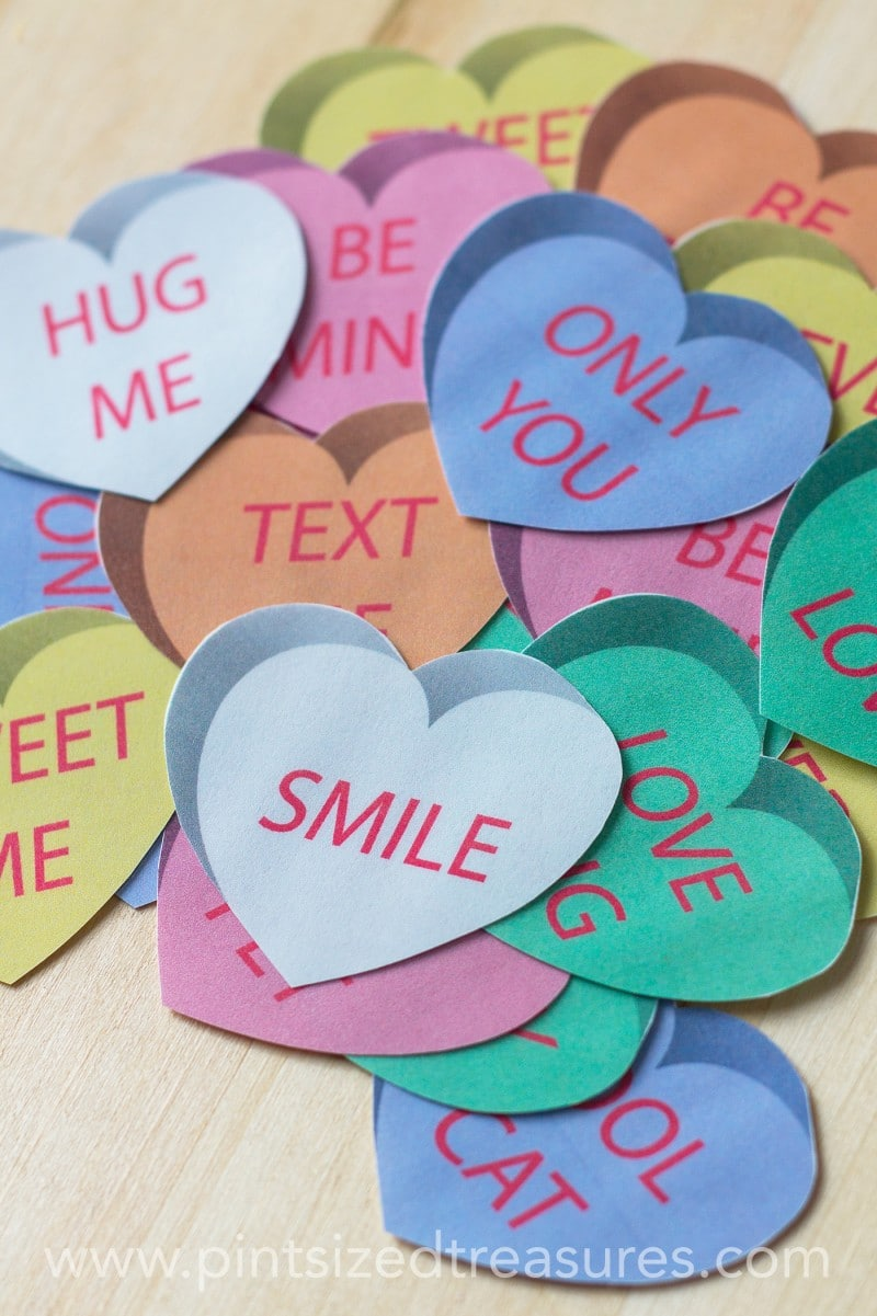 conversation hearts printable memory game