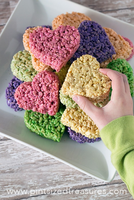 heart shaped rice krispie treats