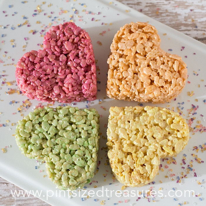 rice   krispie treat hearts pops