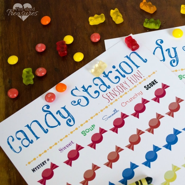 diy candy learning station