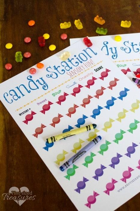 diy candy sensory learning station
