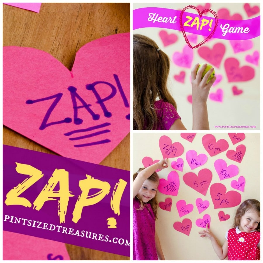 heart zap game for teens and toddlers