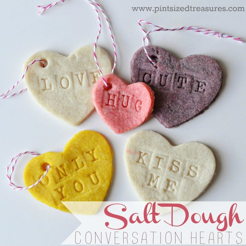 easy diy salt dough conversation hearts