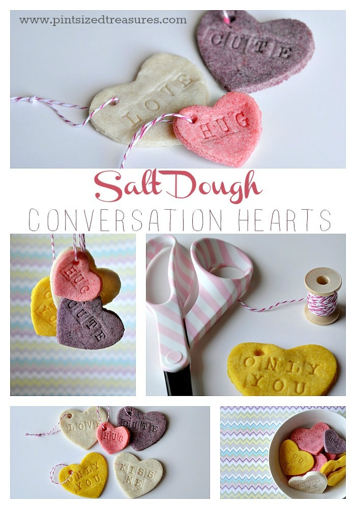 salt dough conversation hearts
