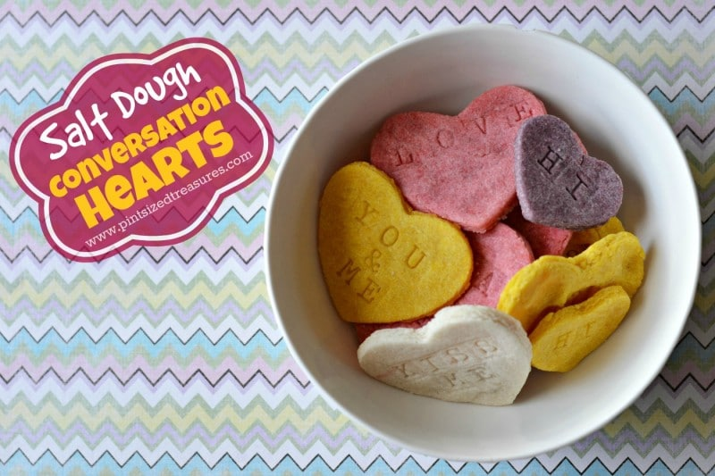 easy salt dough conversation hearts