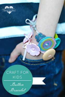 easy button bracelet craft