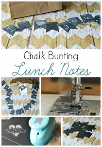diy chalk bunting lunch notes