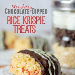 chocolate-dipped rice krispie treats recipe
