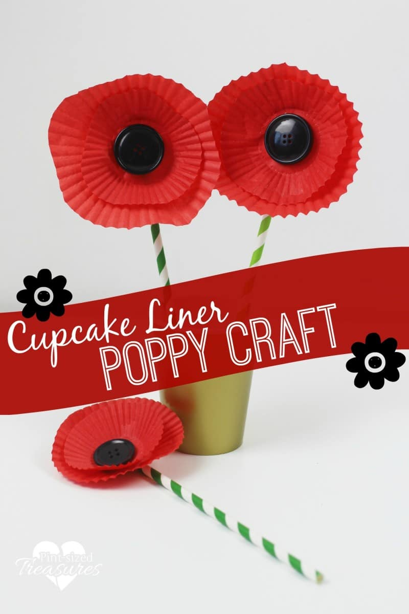 Easy Cupcake Liner Poppy Craft