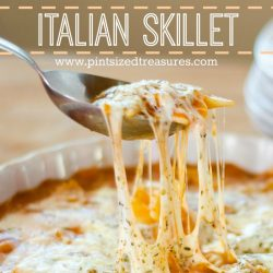 easy Italian cheesy skillet recipe