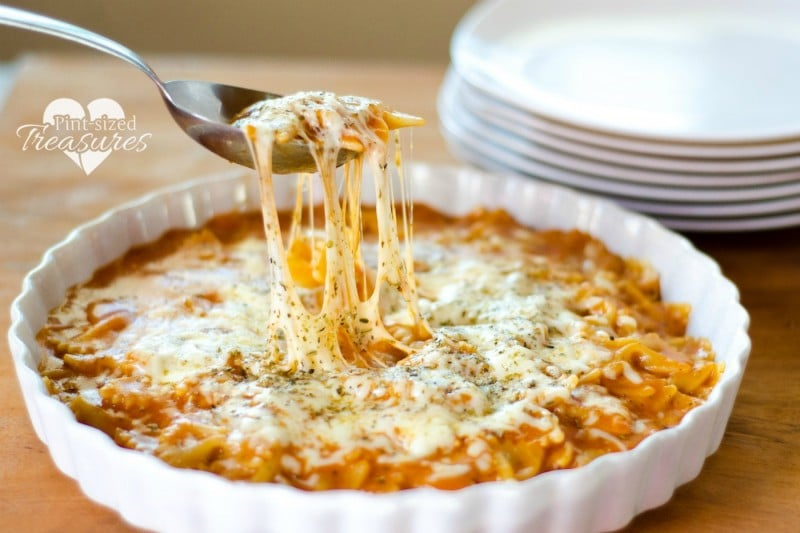 15 minute easy cheesy italian pasta skillet pint sized treasures easy cheesy italian skillet recipe forumfinder Images