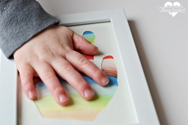 rainbow handprint silhouette craft