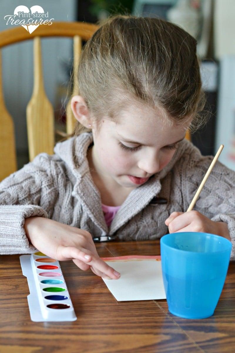 handprint rainbow craft for kids
