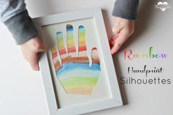 Rainbow Handprint Silhouettes
