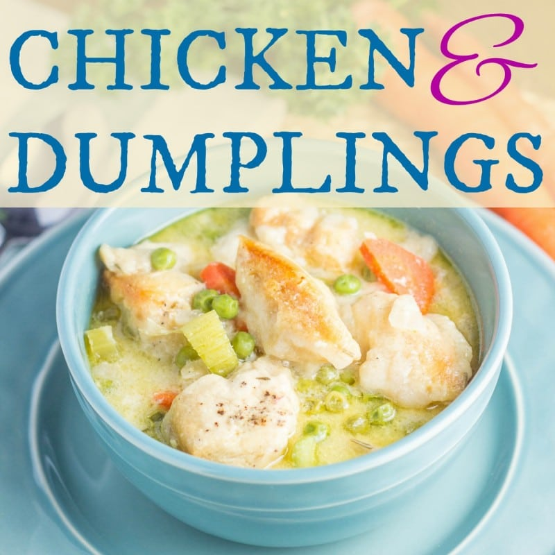 Easy CHicken adn Dumplings in the Crockpot
