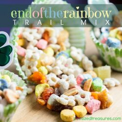 FUn and Easy Rainbow Trail Mix