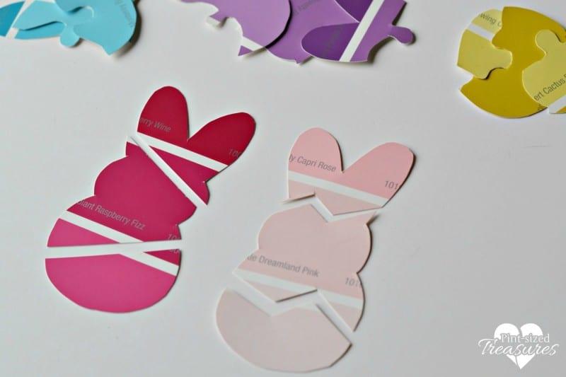 Peeps Paint chip craft