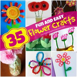 fun and easy flower crafts