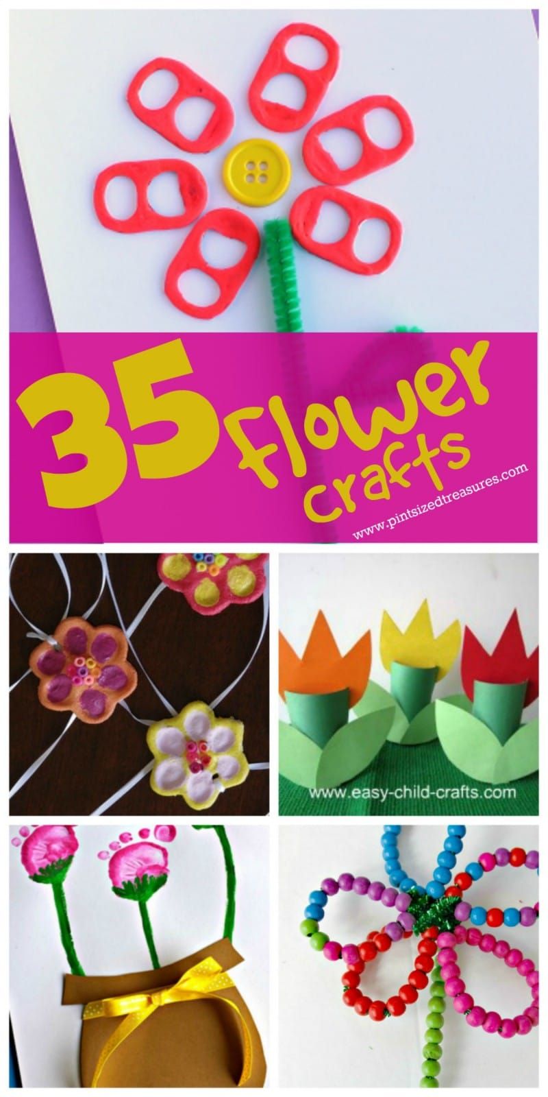 fun and easy flower craft ideas