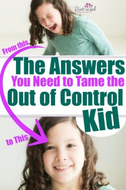 Kids seem out of control these days, don't they? Parents mean well, but they're being given conflicting and confusing advice! Find out some REAL answers that work to help you tame your out of control kid! Because your child and your family deserve to read the truth! #parentingtips #Christianfamily #Parenting #mommyblog #raisingkids #familyfirst #raisetheright #teachingkids #parentingtruth #helpformoms #outofcontrolkid