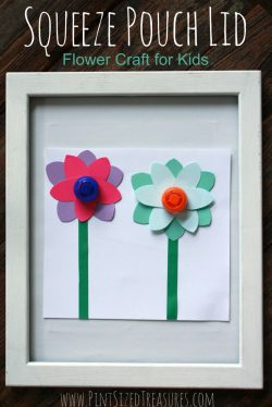 easy squeeze pouch flower craft