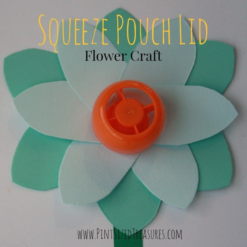 upcycled flower craft