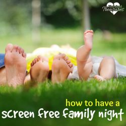 fun ideas for a screen free family night