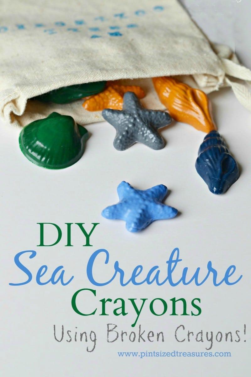 homemade sea creature crayons