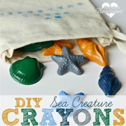 make your own sea creature crayons