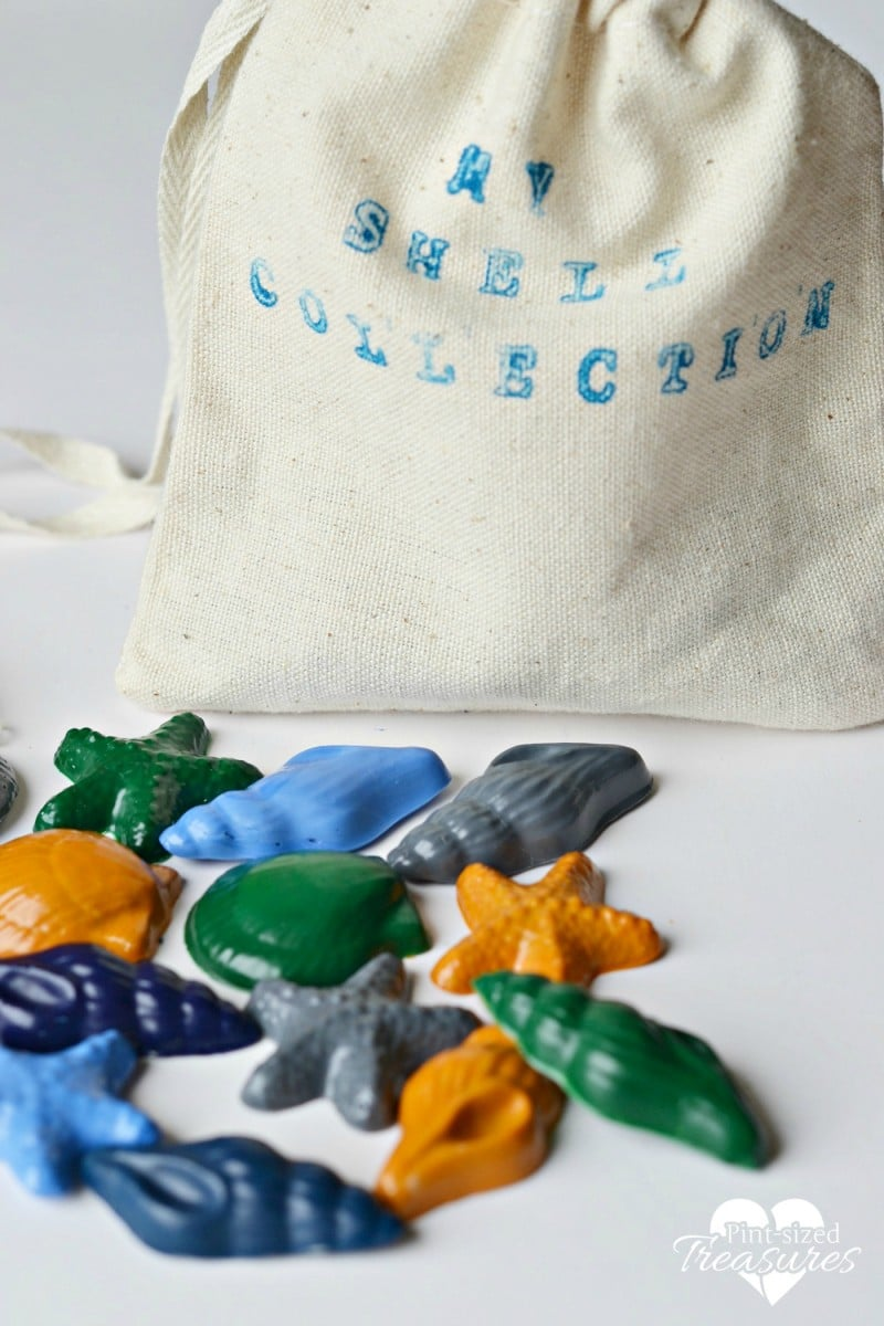 upcycled broken crayons