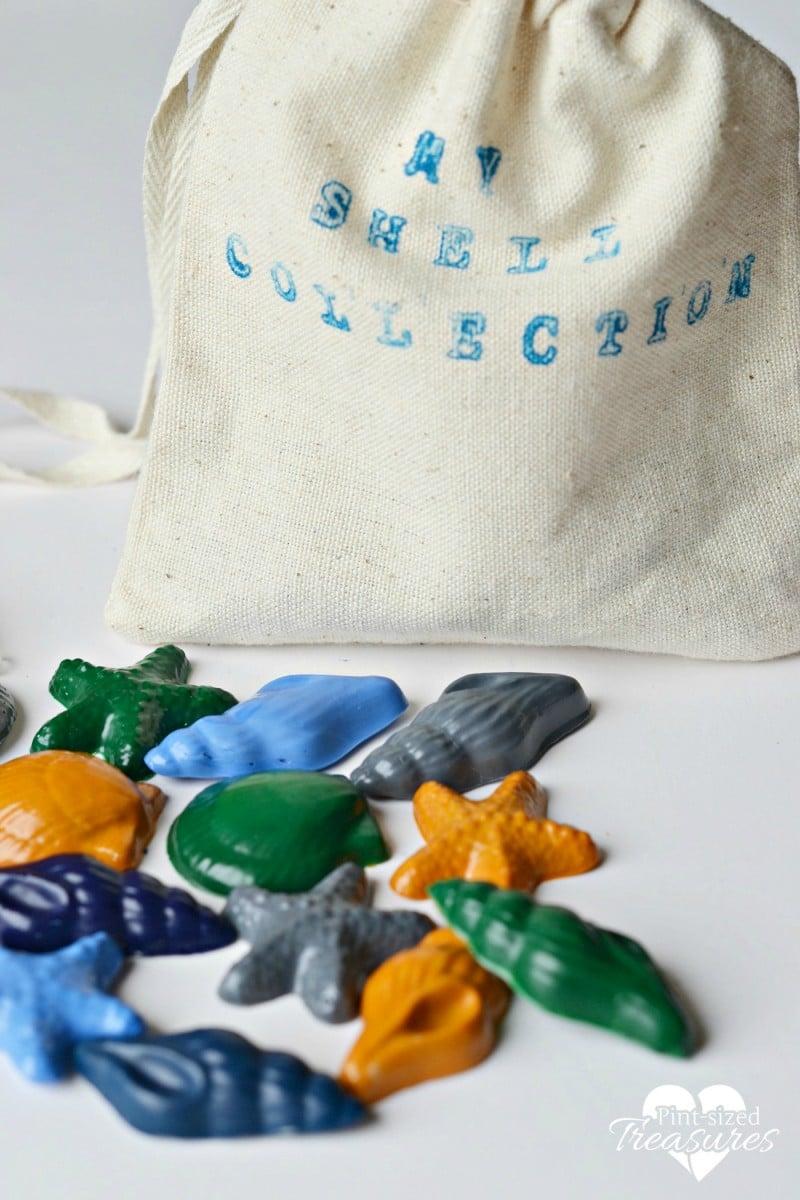 upcycled broken crayons