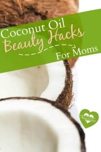 Coconut oil is a mom's best friend! Check out these fun beauty hacks! #pintsizedtreasures #diyformoms #diy #coconutoil #hairhacks #beautyformoms #beautyhelps #naturalbeauty #coconut